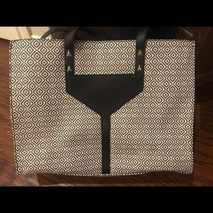 Stella & Dot Black and White Tote Bag